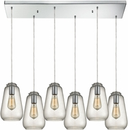ELK 10423-6RC Orbital Modern Polished Chrome Multi Drop Lighting Fixture