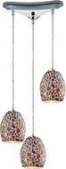 ELK 10429-3 Orbital Modern Polished Chrome Multi Hanging Light