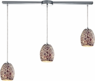ELK 10429-3L Orbital Contemporary Polished Chrome Multi Pendant Light Fixture