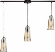 ELK 10431-3L-HAMP Hammered Glass Modern Oil Rubbed Bronze Multi Drop Lighting Fixture