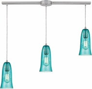 ELK 10431-3L-HAQ Hammered Glass Contemporary Satin Nickel Multi Pendant Lighting