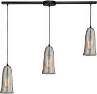 ELK 10431-3L-HME Hammered Glass Modern Oil Rubbed Bronze Multi Pendant Light