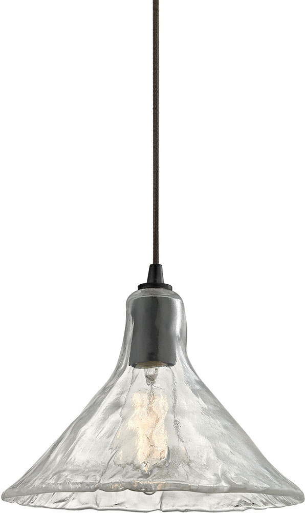 Elk 10435 1 hand formed glass modern oil rubbed bronze mini pendant elk 10435 1 hand formed glass modern oil rubbed bronze mini pendant lighting fixture loading zoom aloadofball Image collections
