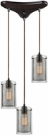 ELK 10448-3 Brant Modern Oil Rubbed Bronze Multi Pendant Lamp