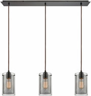 ELK 10448-3LP Brant Contemporary Oil Rubbed Bronze Multi Hanging Lamp