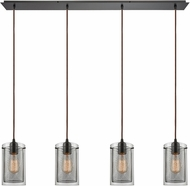 ELK 10448-4LP Brant Modern Oil Rubbed Bronze Multi Hanging Light
