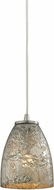 ELK 10465-1SVF Fissure Modern Satin Nickel Mini Ceiling Pendant Light