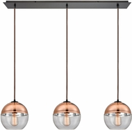 ELK 10490-3LP Revelo Contemporary Oil Rubbed Bronze Multi Hanging Pendant Lighting