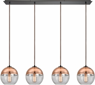 ELK 10490-4LP Revelo Modern Oil Rubbed Bronze Multi Hanging Pendant Light