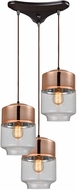 ELK 10491-3 Revelo Modern Oil Rubbed Bronze Multi Hanging Light Fixture