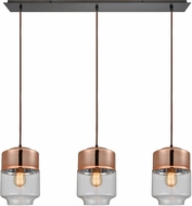 ELK 10491-3LP Revelo Contemporary Oil Rubbed Bronze Multi Drop Lighting