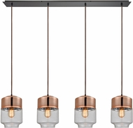 ELK 10491-4LP Revelo Modern Oil Rubbed Bronze Multi Drop Ceiling Lighting