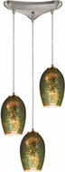 ELK 10506-3 Illusions Contemporary Satin Nickel Multi Drop Ceiling Light Fixture