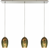 ELK 10506-3LP Illusions Modern Satin Nickel Multi Drop Lighting Fixture