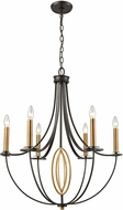ELK 10515-6 Dione Oil Rubbed Bronze,Brushed Antique Brass Chandelier Lighting