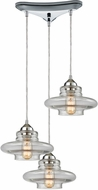 ELK 10525-3 Orbital Contemporary Polished Chrome Multi Lighting Pendant