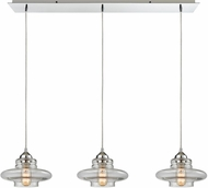 ELK 10525-3LP Orbital Modern Polished Chrome Multi Pendant Lamp