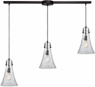 ELK 10555-3L Hand-Formed Glass Contemporary Oil Rubbed Bronze Multi Hanging Light Fixture