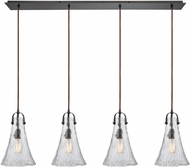 ELK 10555-4LP Hand-Formed Glass Contemporary Oil Rubbed Bronze Multi Drop Ceiling Lighting