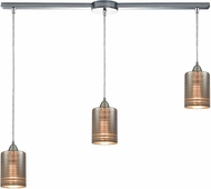 ELK 10565-3L Plated Rings Contemporary Polished Chrome Multi Hanging Light