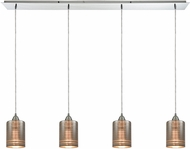 ELK 10565-4LP Plated Rings Contemporary Polished Chrome Multi Pendant Lighting Fixture