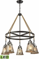 ELK 10631-5CH-LED Hand Formed Glass Oil Rubbed Bronze LED Ceiling Chandelier