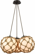 ELK 10710-3SR Coastal Inlet Oil Rubbed Bronze Multi Pendant Light Fixture