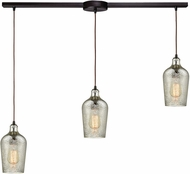 ELK 10830-3L Hammered Glass Contemporary Oil Rubbed Bronze Multi Hanging Lamp