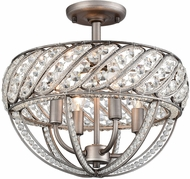 ELK 11091-4 Bradington  Weathered Zinc Ceiling Light
