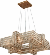 ELK 11125-8 Lexicon Matte Gold Hanging Chandelier