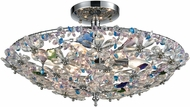ELK 11130-6 Crystallus Polished Chrome Flush Mount Lighting Fixture