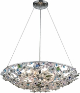 ELK 11131-8 Crystallus Polished Chrome Ceiling Light Pendant