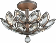 ELK 11150-3 La Crescita Weathered Zinc Flush Ceiling Light Fixture