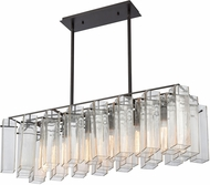 ELK 11163-6 Cubic Glass Contemporary Oil Rubbed Bronze Kitchen Island Lighting
