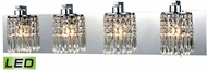 ELK 11238-4-LED Optix Polished Chrome LED 4-Light Bathroom Lighting Fixture