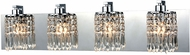 ELK 11238-4 Optix Polished Chrome 4-Light Bathroom Light
