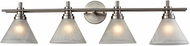 ELK 11403-4 Pemberton Modern Brushed Nickel 4-Light Bathroom Light Fixture