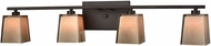 ELK 11439-4 Serenity Oil Rubbed Bronze Halogen 4-Light Bathroom Vanity Lighting