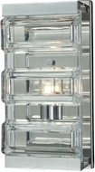 ELK 11515-1 Corrugated Glass Modern Polished Chrome Halogen Lighting Sconce