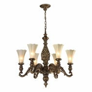 ELK 11540-6 Allesandria Traditional Burnt Bronze/Weathered Gold Leaf Lighting Chandelier