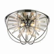 ELK 11561-6 Twilight Modern Polished Chrome Halogen Ceiling Light Fixture