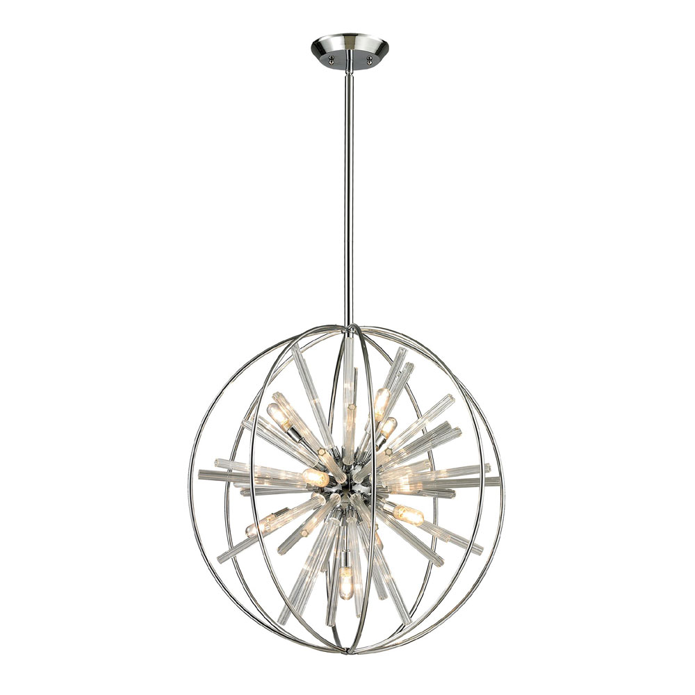 Elk 11562 10 twilight contemporary polished chrome halogen hanging elk 11562 10 twilight contemporary polished chrome halogen hanging pendant light loading zoom mozeypictures Image collections