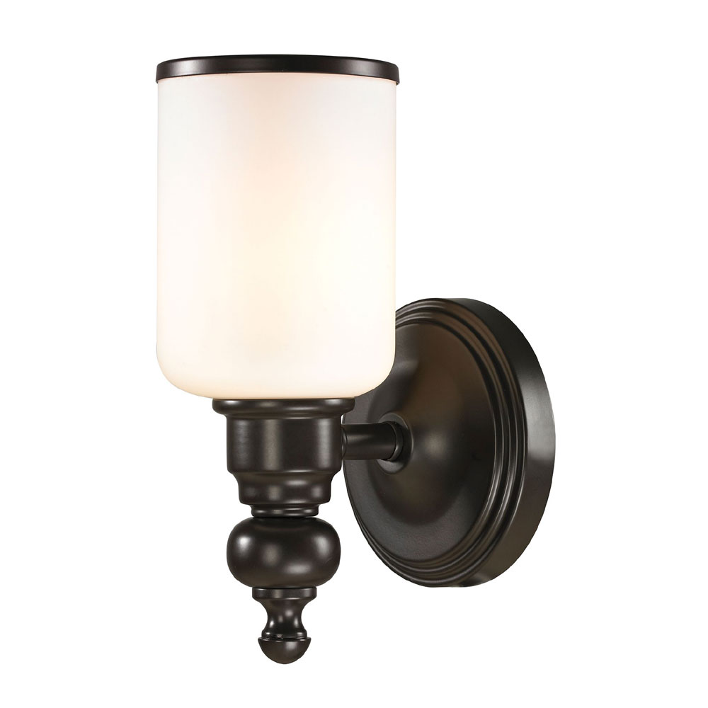 Wall Sconces Oil Rubbed Bronze : ELK 11590-1 Bristol Oil Rubbed Bronze Wall Sconce Lighting - ELK-11590-1