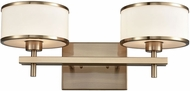 ELK 11616-2 Utica Satin Brass Halogen 2-Light Bathroom Vanity Light
