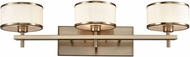 ELK 11617-3 Utica Satin Brass Halogen 3-Light Bathroom Sconce