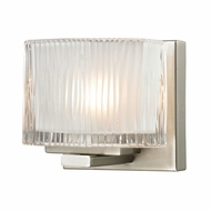 ELK 11630-1 Chiseled Glass Contemporary Brushed Nickel Halogen Wall Mounted Lamp