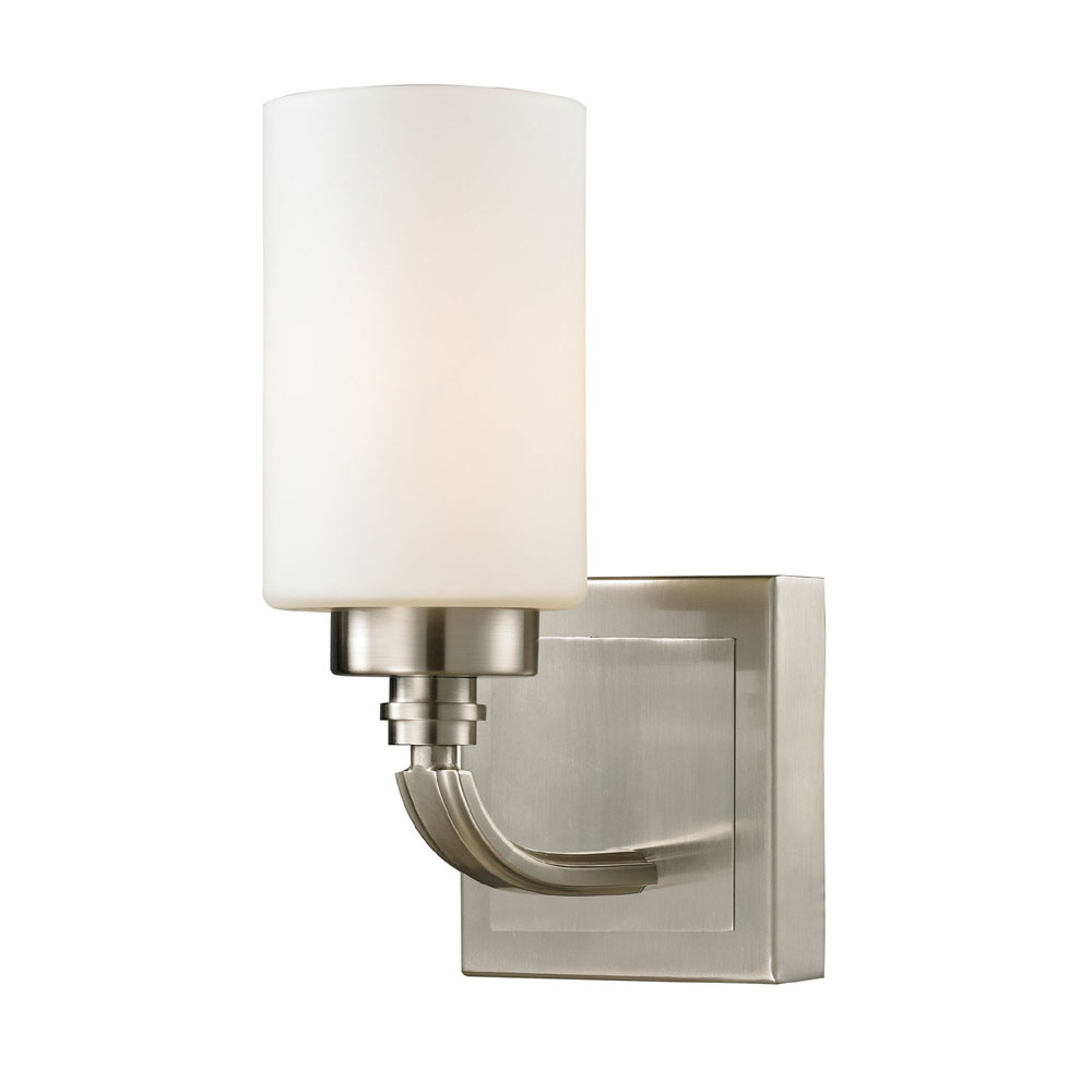 Wall Lights Nickel : ELK 11660-1 Dawson Brushed Nickel Wall Light Sconce - ELK-11660-1