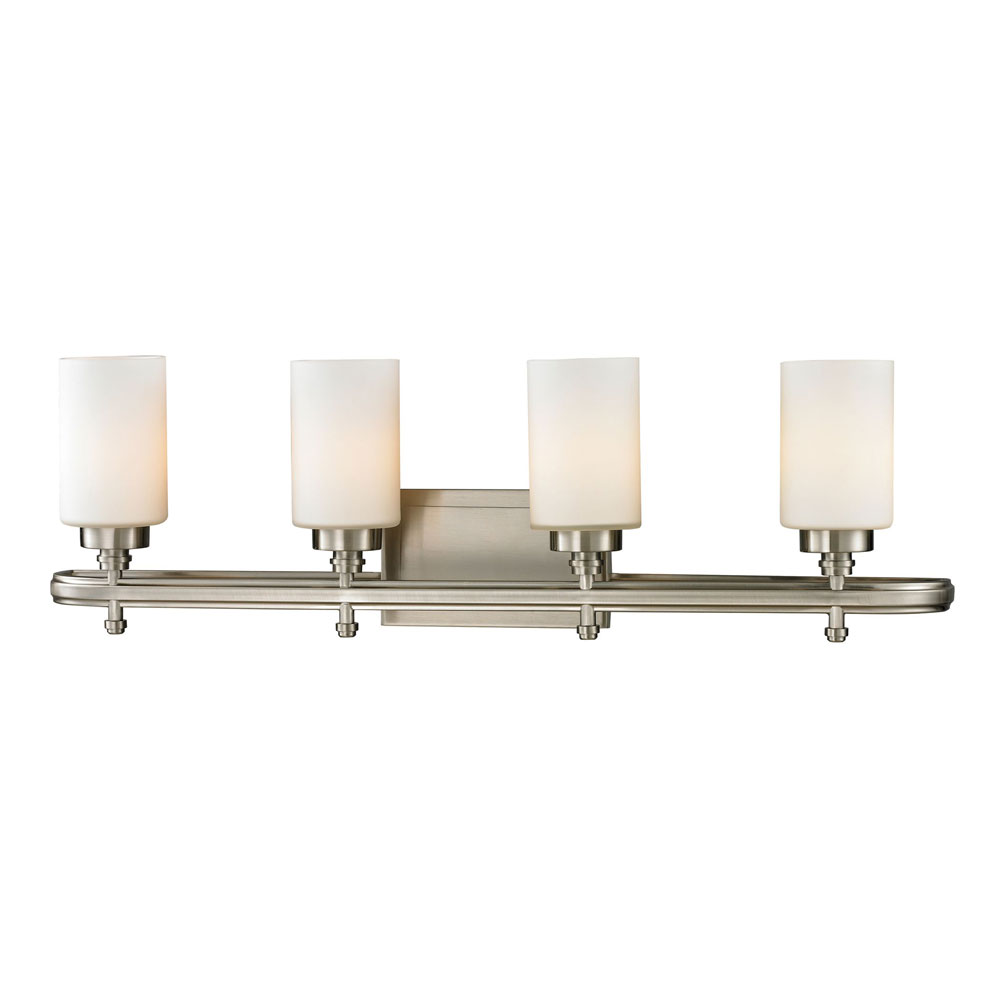 Elk 11663 4 dawson brushed nickel 4 light bath lighting for 4 light bathroom fixture