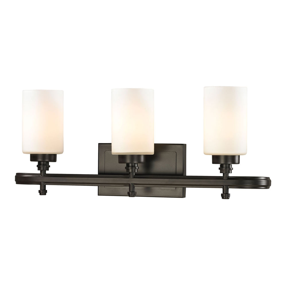 Elk 11672 3 dawson oil rubbed bronze 3 light bathroom for 6 light bathroom vanity light