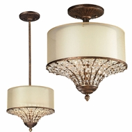 ELK 11700-3 Crystal Spring Spanish Bronze Flush Mount Lighting / Pendant Lighting